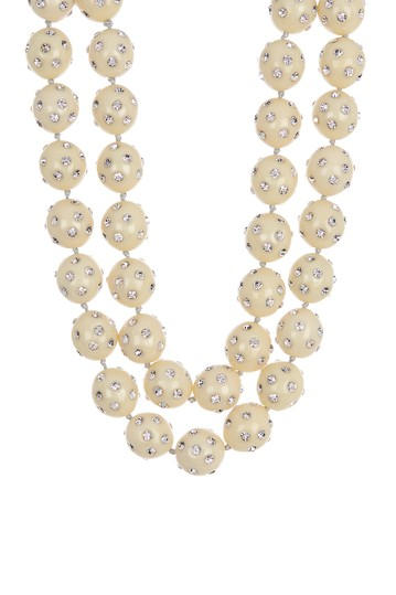 Double Layer Crystal Bauble Necklace Lele Sadoughi
