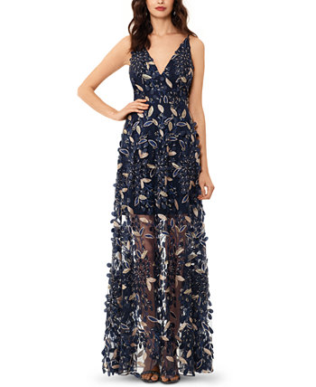 3D Embroidered Floral Gown XSCAPE