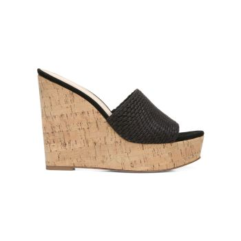 Dali Woven Cork Platform Wedge Mules VERONICA BEARD