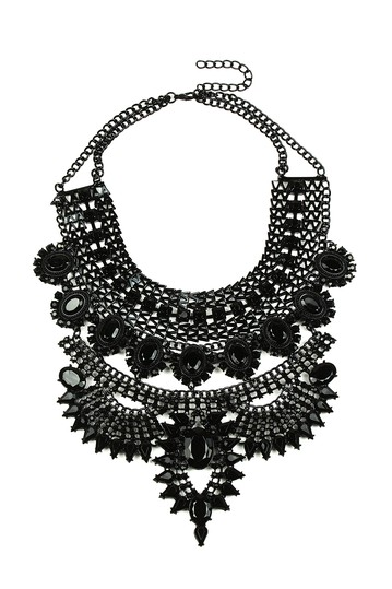 Jania Black Necklace Eye Candy Los Angeles