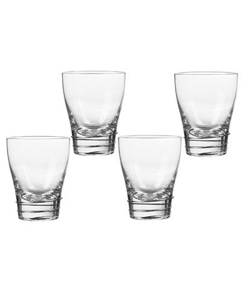 Helix Platinum Double Old Fashioned Glasses, Set Of 4 Qualia Glass