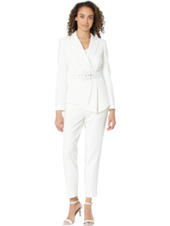 Asymmetrical Belted Jacket and Pants Set Tahari by ASL