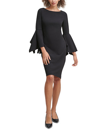 Split-Sleeve Sheath Dress Calvin Klein