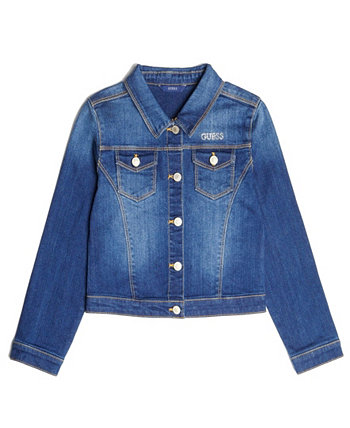 Big Girls Classic Stretch Denim Jacket GUESS
