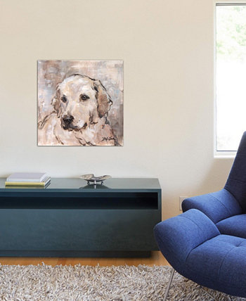"""Lovely Lab"" by Debi Coules Gallery-Wrapped Canvas Print (26 x 26 x 0.75) ICanvas"