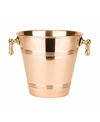 International Solid Copper Wine Cooler with Brass Handles, 4.75-Quart Old Dutch