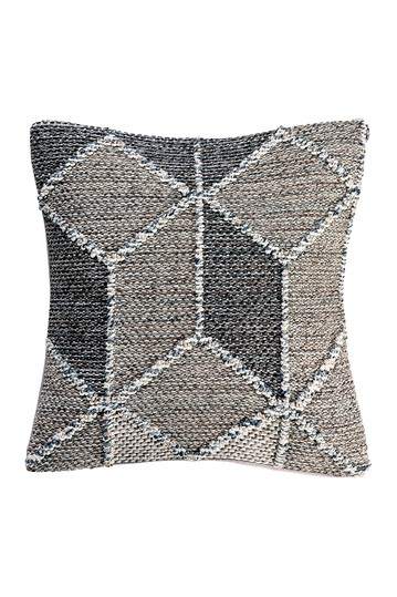 Chara Textured Diamond Throw Pillow Cover NuLOOM