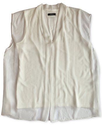 Inverted-Pleat Overlay Top, Created for Macy's Alfani