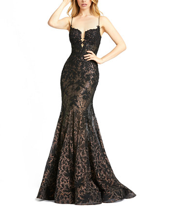 Sequin Lace Corset Gown MAC DUGGAL