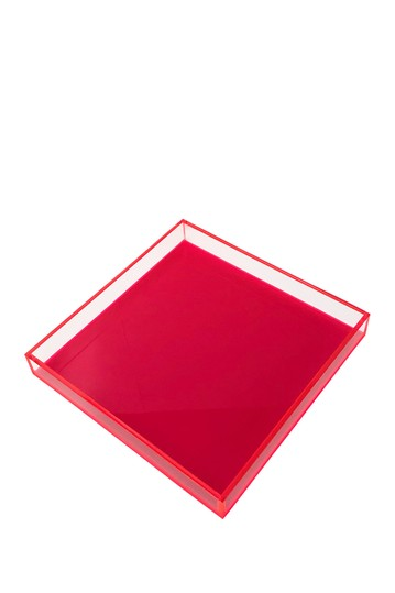 Neon Hot Pink Square Tray R16 HOME
