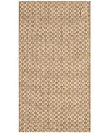 "Courtyard Natural and Cream 2'7"" x 5' Sisal Weave Area Rug Safavieh"