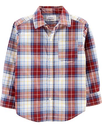 Carter's Plaid Button-Front Shirt Carters