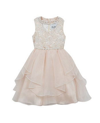 Big Girls Sequin Embroidered Dress Rare Editions