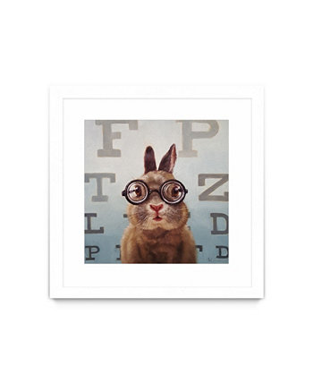 "Four Eyes Matted and Framed Art Print, 30"" x 30"" Giant Art"