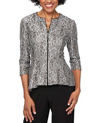 Lace Peplum Jacket Alex Evenings