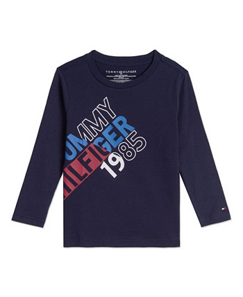 Toddler Boys Split Long Sleeve T-shirts Tommy Hilfiger