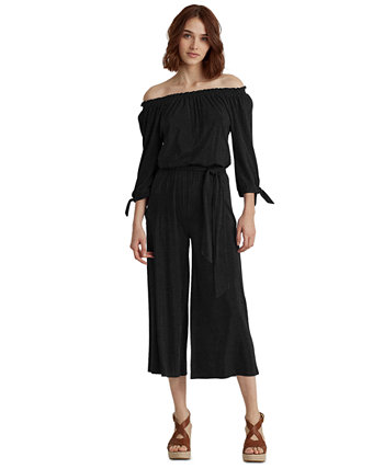 Cropped Wide-Leg Jumpsuit Ralph Lauren