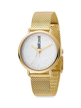 CFC Goldtone Stainless Steel Bracelet Watch Just Cavalli