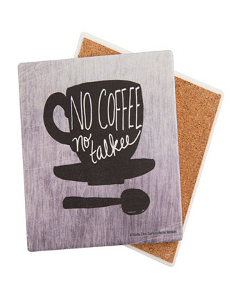 No Coffee No Talkie Coaster THIRSTYSTONE