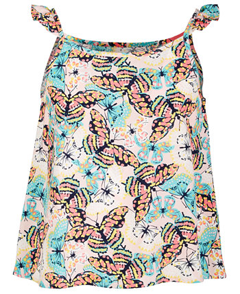 Big Girls Butterfly-Print Challis Top, Created for Macy's Epic Threads