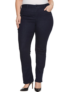 Plus Size Marilyn Straight Jeans in Rinse NYDJ Plus Size