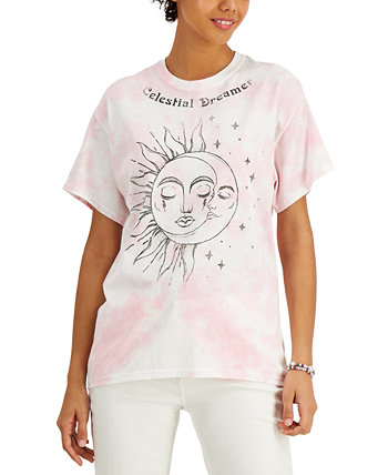 Juniors' Cotton Celestial Dreamer-Graphic T-Shirt Love Tribe