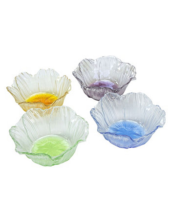 Dessert Bowls With Assorted Colors, Set Of 4 Classic Touch
