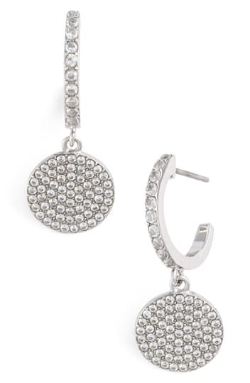pave drop earrings Kate Spade New York