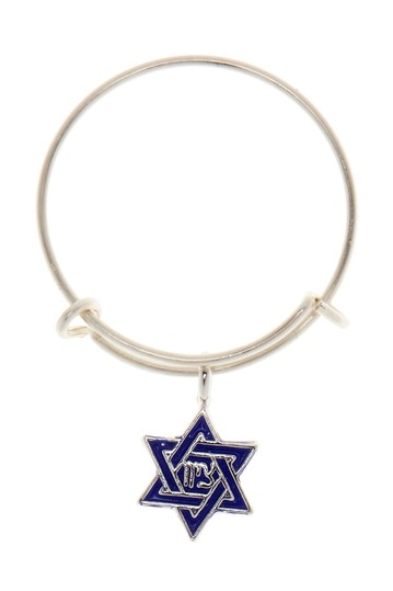Sterling Silver Star of David Mini Charm Expandable Ring Alex and Ani
