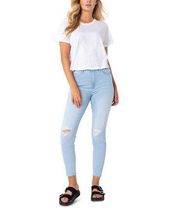 Ripped High-Rise Jeans Celebrity Pink