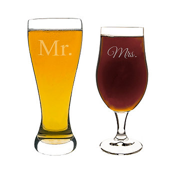 Mr. & Mrs. Pilsner Set Cathy's Concepts
