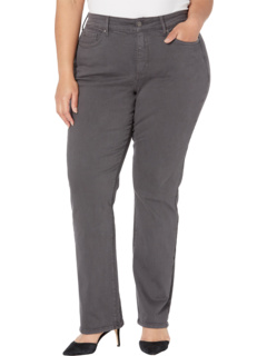 Plus Size Marilyn Straight Jeans in Vintage Pewter NYDJ Plus Size