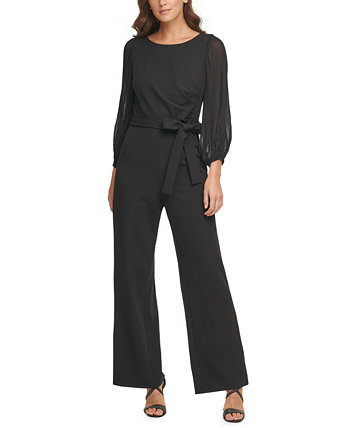 Pleated-Sleeve Jumpsuit DKNY