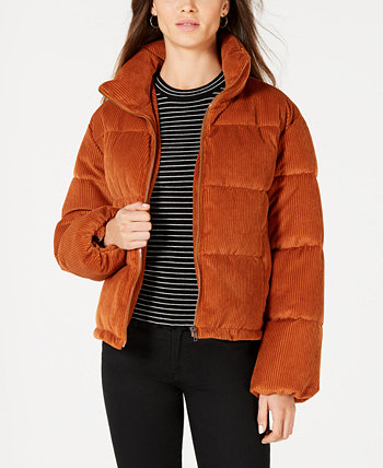 Juniors' Cropped Corduroy Puffer Coat Collection B