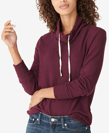 Solid Tunnel-Neck Drawstring Top Lucky Brand