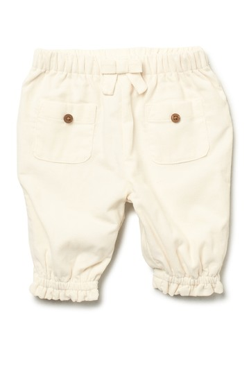 Ivory Babycord Pants With Ruffles (Baby Girls) Oliver and Rain