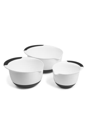 Black Handles 3-Piece Mixing Bowl Set Oxo