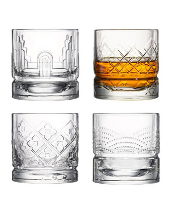 Assorted 10 Ounce Whisky Tumblers, Set of 4 La Rochère