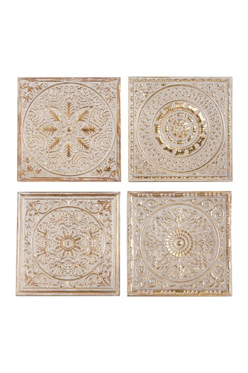 Metal Wall Plaques - Set of 4 Willow Row