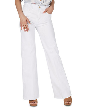 High-Rise Braided-Waistband Wide-Leg Jeans Numero