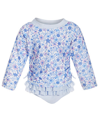 Toddler Girls 2-Pc. Ditsy Floral Rash Guard, Created for Macy's First Impressions