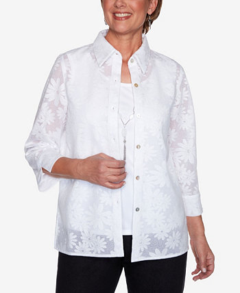 Plus Size Lazy Daisy Two for One Top Alfred Dunner