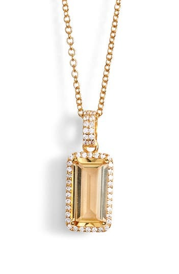 ARIA EMERALD CUT 18IN NECKLACE LaFonn