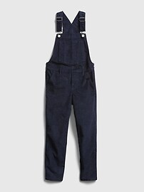Kids High-Rise Jegging Cord Overalls with Stretch Gap