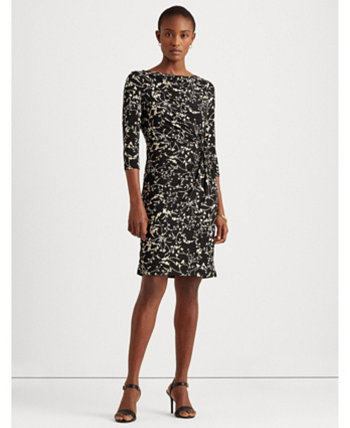Rose-Print Balloon-Sleeve Dress Ralph Lauren