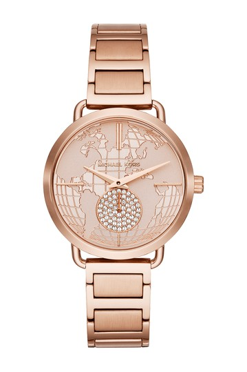 Women's Portia Multifunction Rose Gold-Tone Stainless Steel Watch, 37mm Michael Kors