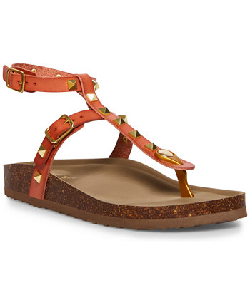Barnaby Studded T-Strap Footbed Sandals Madden Girl