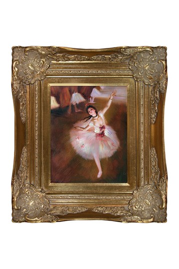 """Star Dancer (On Stage) with Victorian Gold Frame , 16"""" x 18"""" No brands"""