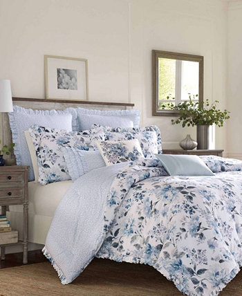 Chloe Cottage Blue Duvet Set, Полный / Queen Laura Ashley