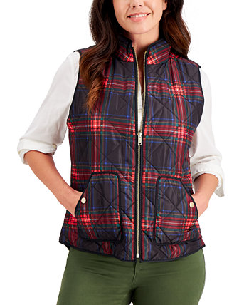 Quilted Plaid Vest, Created for Macy's Charter Club